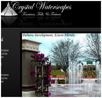 contractor websites - water fountain designer website design