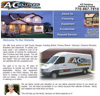 hvac, heating and cooling web designers