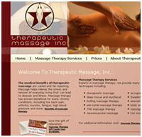 medical websites - massage therapy web design
