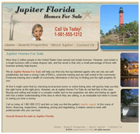 real estate website design for Jupiter
